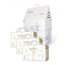 """Inseense подгузники трусики L 9-14 кг 44 шт х 3 упаковки MEGA V8 + подарочный домик """"Морская сказка"""" (картон) + восковые мелки."""