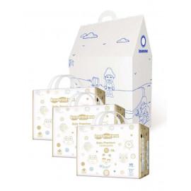 """Inseense подгузники трусики XL 12-17 кг 38 шт х 3 упаковки MEGA V8 + подарочный домик """"Морская сказка"""" (картон) + восковые мелки."""