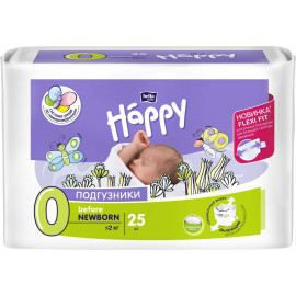 Bella baby Happy Подгузники, 0-2 кг, 25 шт