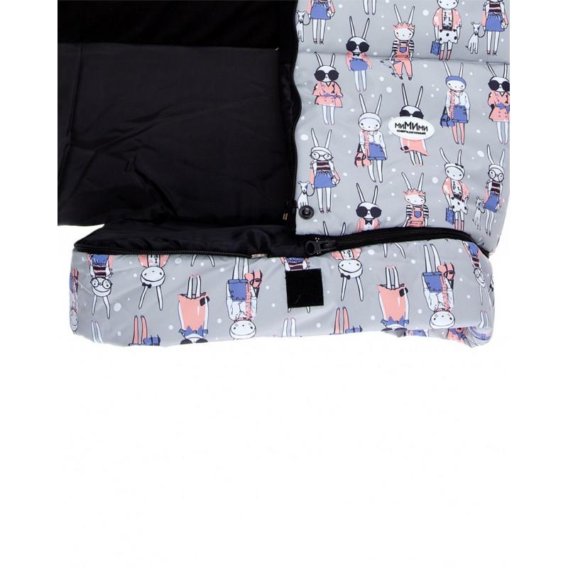Конверт в коляску «Fashion rabbit серый»