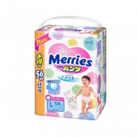 Трусики-подгузники Merries L (9-14 кг) 56 шт.